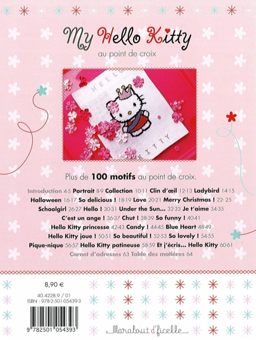 embroidery sewing: hello kitty