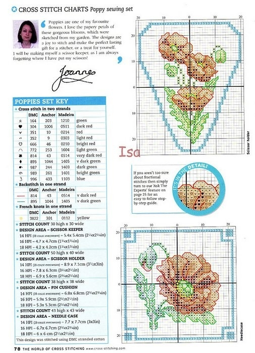 """свой цитатник или сообщество!  Маки.  Журнал  """"The World of Cross Stitching """" 2004 89.  Прочитать целикомВ."""