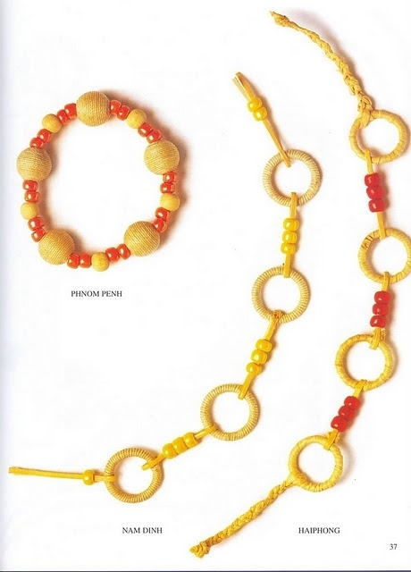 crafty jewelry: knotted bracelet