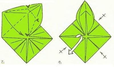 Кувшинки оригами схема