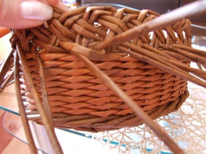 Можно применять для корзинок из газет.  Оплетаем верх корзинки.  Галерея поделок. http://www.pletenizpapiru.cz/8676/t...