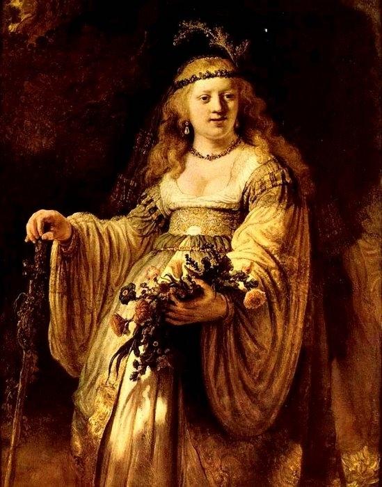 Саския в виде Флоры   Год создания  1635