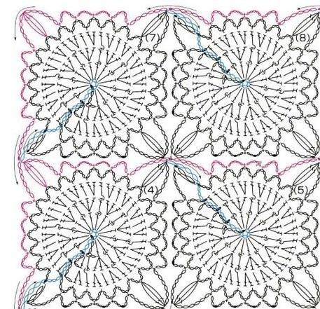Узоры для вязания из белых ниток 22