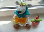 Мышка-вязальщица от Elena Gunger