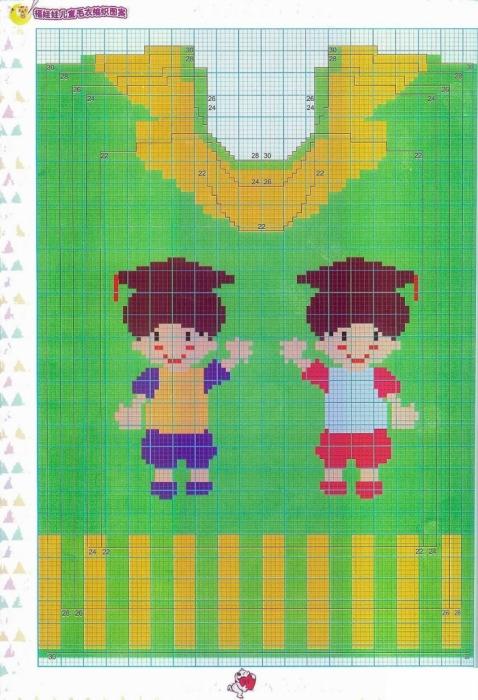 Вышивка на детских трикотажных изделиях 30