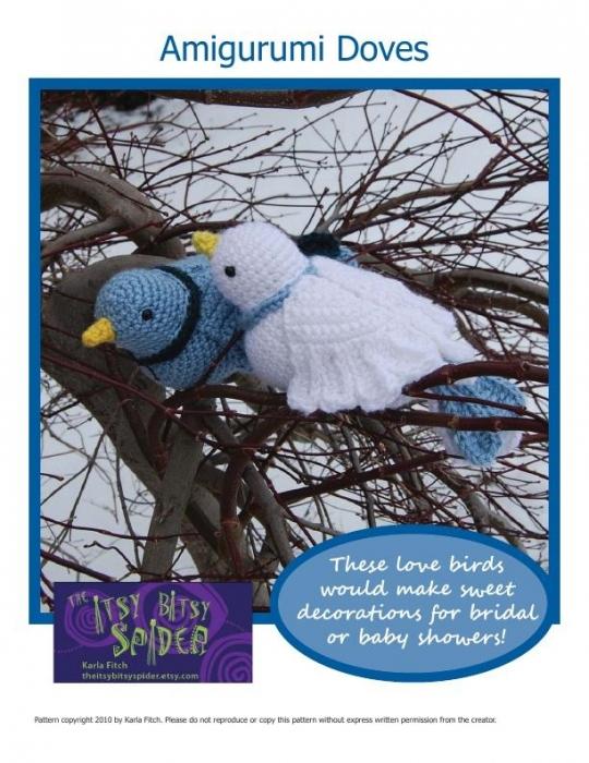 Вязание птиц крючком описание 48