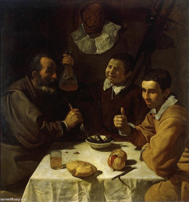 Трое мужчин за столом, 1618 Эрмитаж, Санкт-Петербург