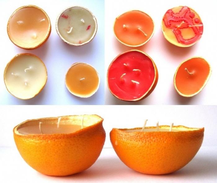 Апельсиновые свечки