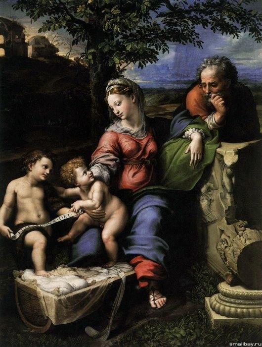 Святое семейство под дубом, 1518