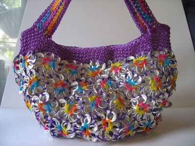 recycle soda tabs: crochet pattern