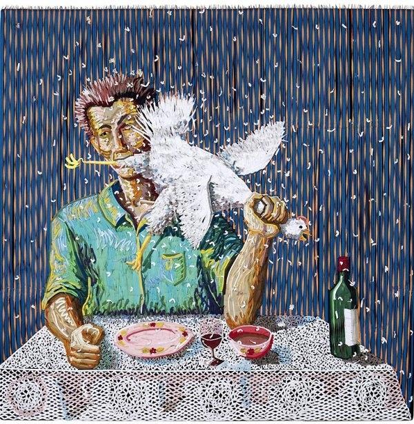 Картины из шнурковНа первый взгляд эти красочные работы выглядят как обычные картины – но при более детальном осмотре оказывается, что они сделаны… из шнурков. Это – удивительно сложные произведения работы колумбийского художника Федерико Урибе.