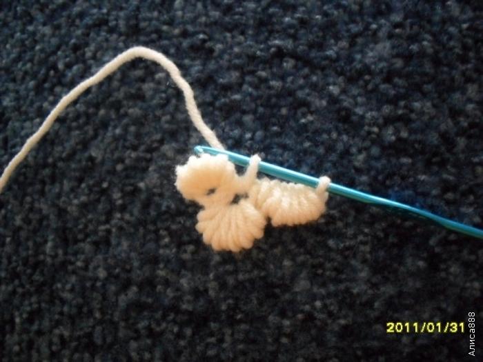 爱尔兰花边教程:带花蕊的钩法 - maomao - 我随心动