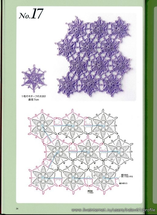 日本未分离的编织图案(一线连) - maomao - 我随心动