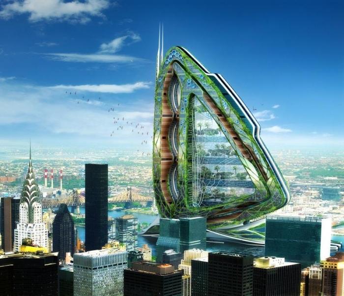 """Нью-Йорк: вертикальная ферма """"Стрекоза"""""""