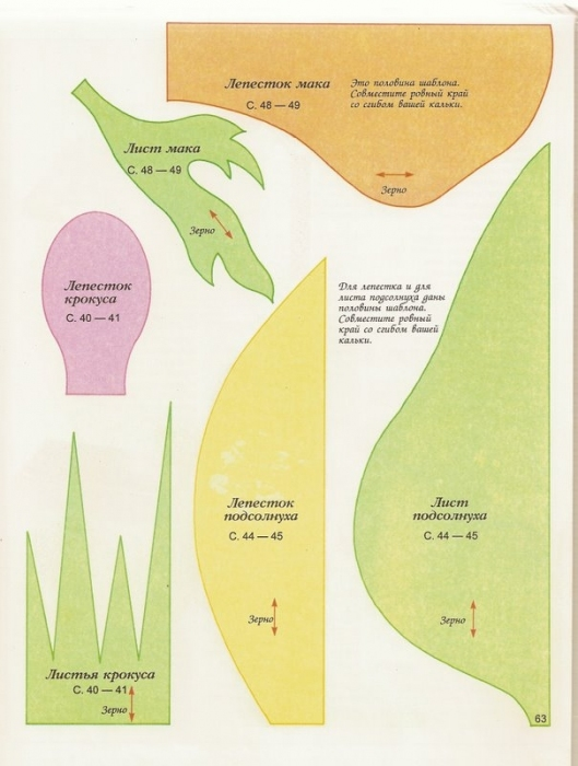 Схемы для цветов из гофрированной бумаги
