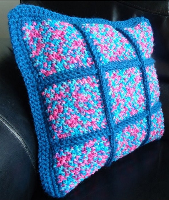 蓝色抱枕贴图素材