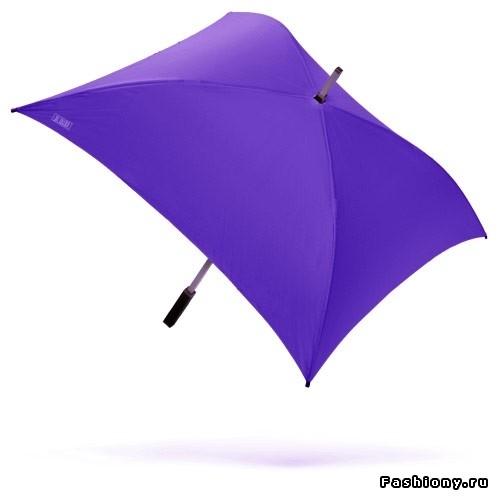 Мужской зонт трость с квадратным куполом.