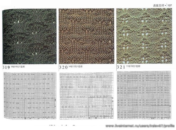 узоры вязания спицами с описанием.