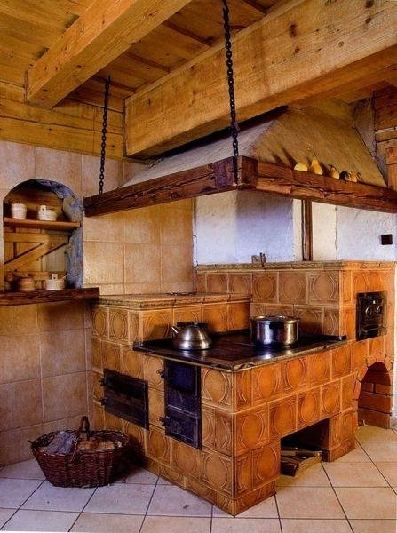 Русская печь в доме дизайн