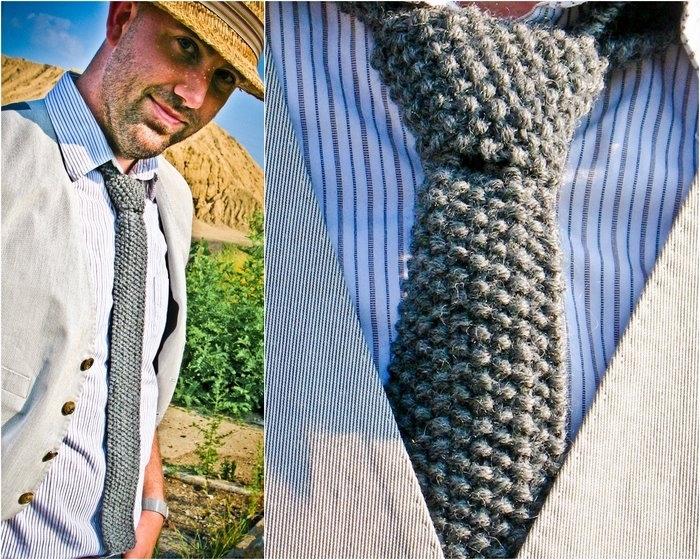 Вязаный галстук своими руками 88