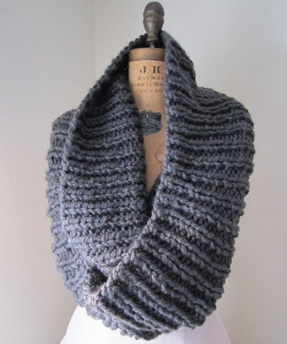 схемы вязание спицами снуд женские.