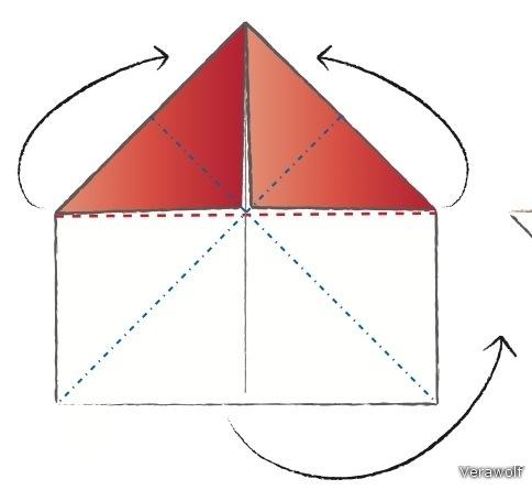 Схема для создания валентинки оригами: Соблюдайте последовательность при создании. валентинки.