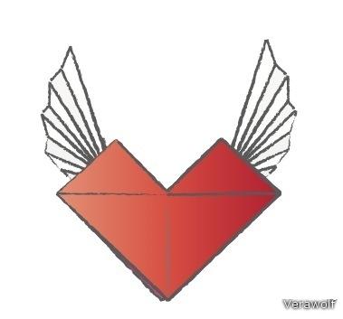 Валентинка: Сердце оригами.