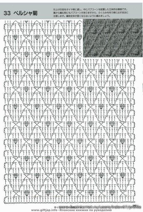 Красивый узор для юбки крючком 4