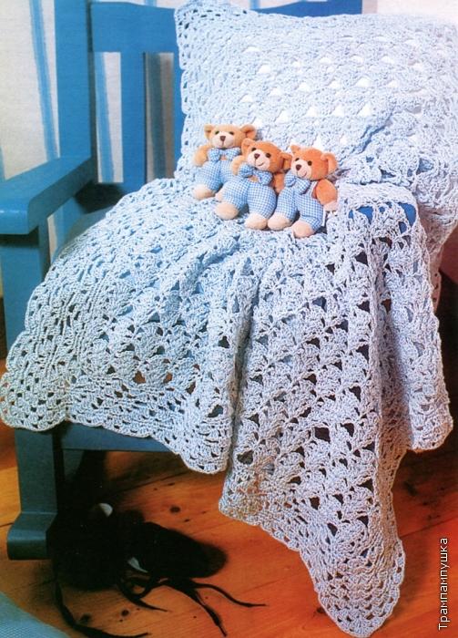 Вязание крючком/Пледы, покрывала, подушки .
