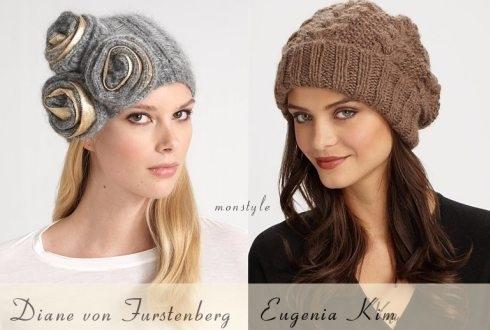 Самые модные вязанные шапки.