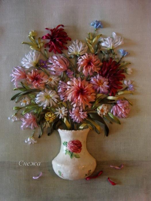 Как сделать вазу для вышивки