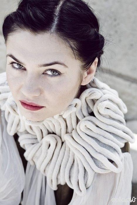 объемный ажурный шарф крючком - Выкройки одежды для детей и взрослых.