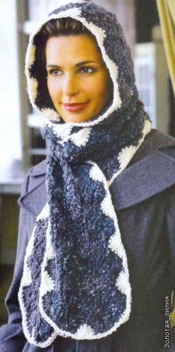И ШАРФЫ >шарф-капюшон.