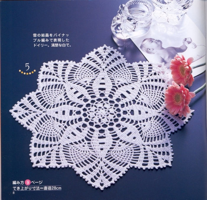 Схемы вязания салфеток.