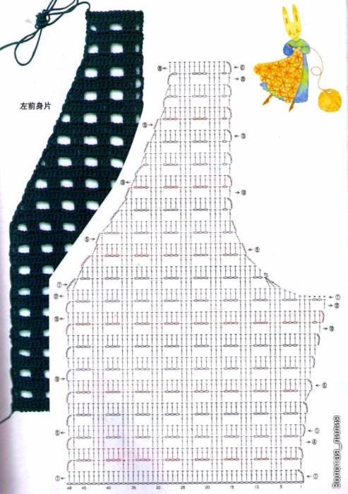 Подробное вязание крючком жилеток