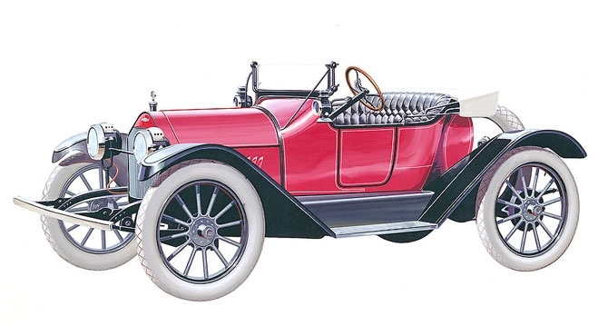 Chevrolet Royal Mail Roadster 1914 release.