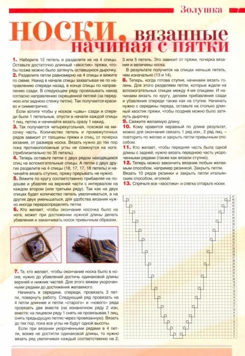 Вязание носок от пятки схема 251