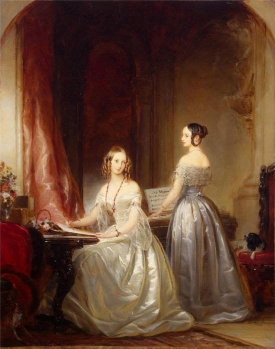 Portrait of Grand Princesses Olga Nikolayevna and Alexandra Nikolayevna.Christina Robertson