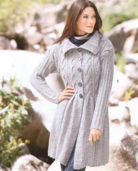 Описание: Женские вязаные пальто со схемами Реальная мода . Автор: Юнон