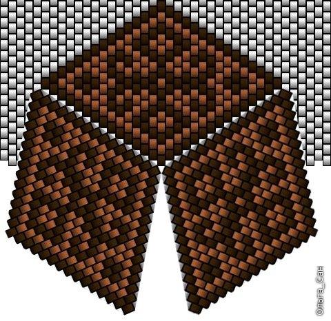 треугольник из бисера схема - Вышивка бисером.