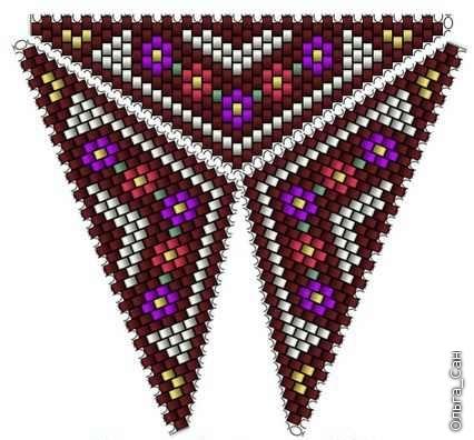 Бисероплетение треугольник.