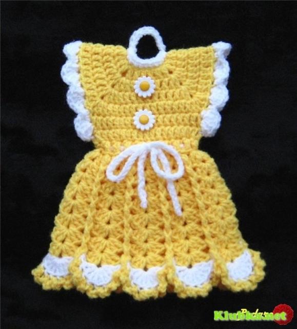 Вязание крючком прихватка платье 36