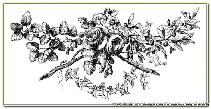 Цветы в черно белом стиле
