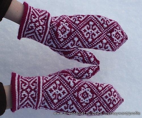 Жаккардовые узоры для рукавиц