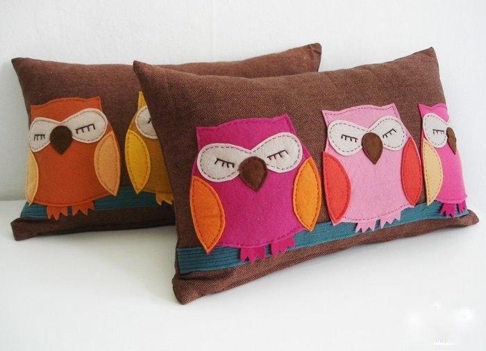 Подушки с совами своими руками