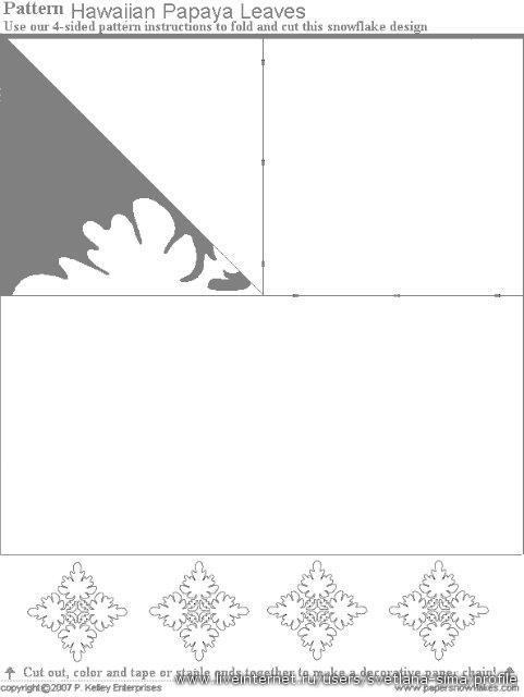 Делаем снежинки своими руками (60 схем)