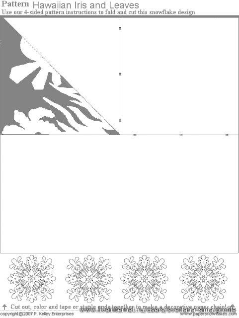 Бумажные снежинки к Новому Году (60 экскизов)