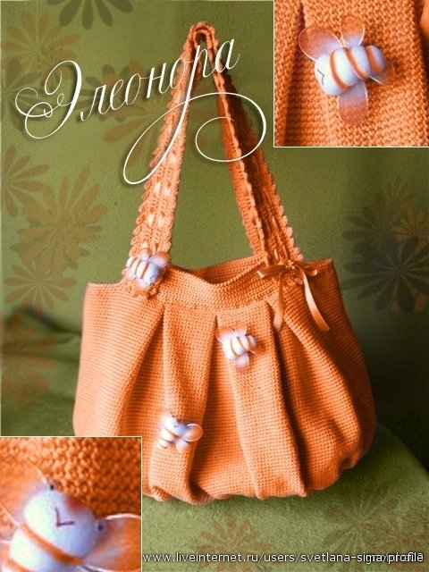 вязаные зимние сумки с описанием - Мода.