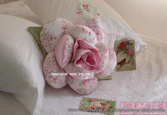 N多玫瑰花抱枕--附详细做法--(燕窝编织) - 燕窝 - 燕窝编织