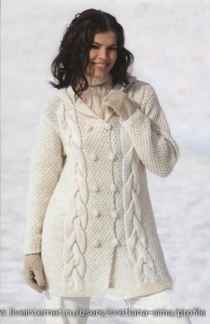 Схемы вязания курток спицами
